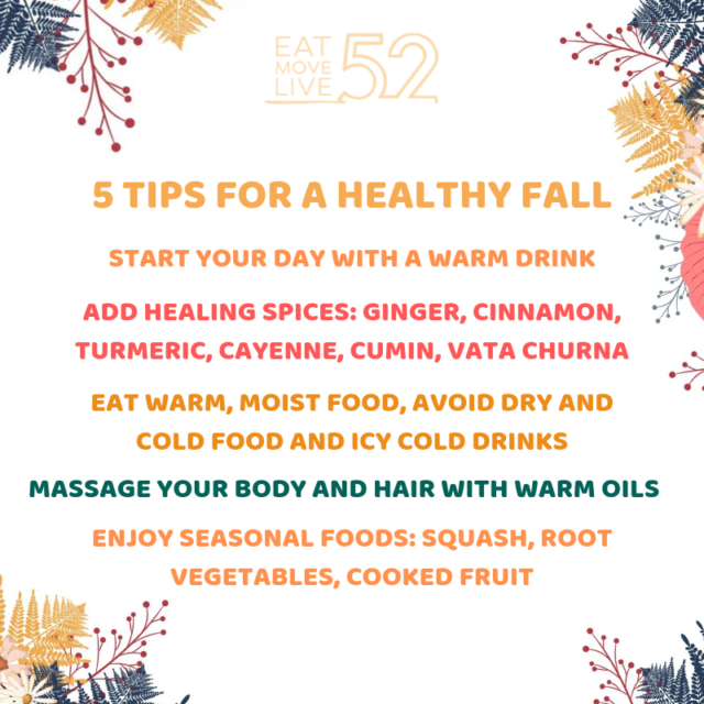 5 tips for healthy eating for fall