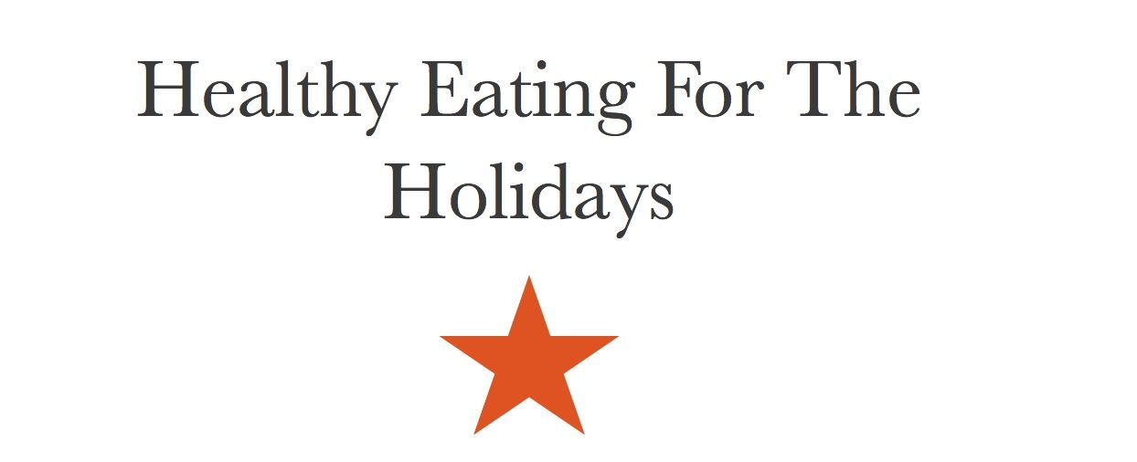 Healthy Eating for the Holidays Webinar – get it now!