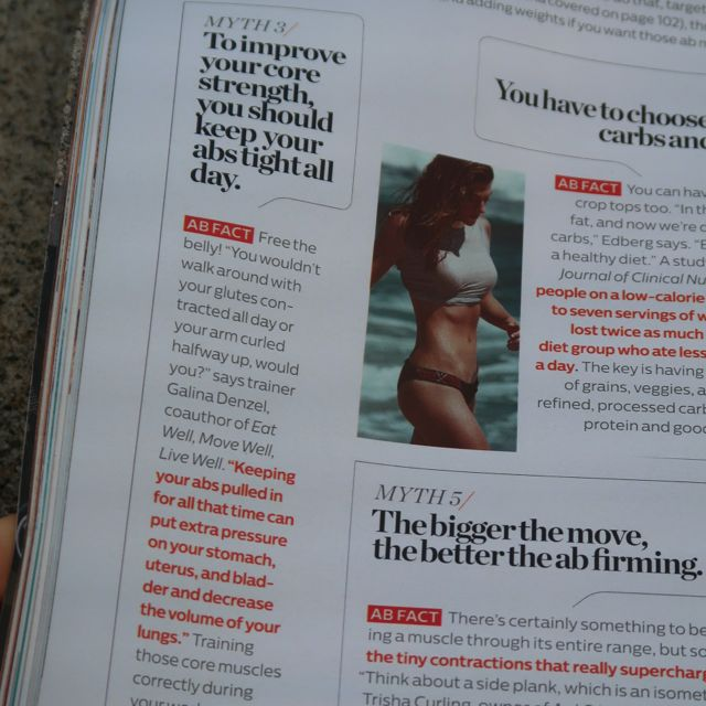 do you have to hold your abs tight? Shape Magazine