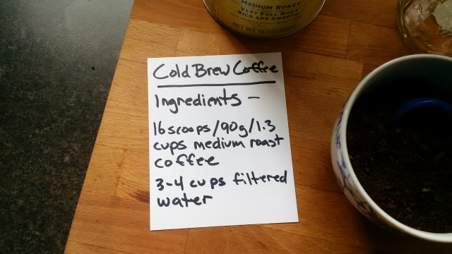 Make Your Own Cold Brew Coffee