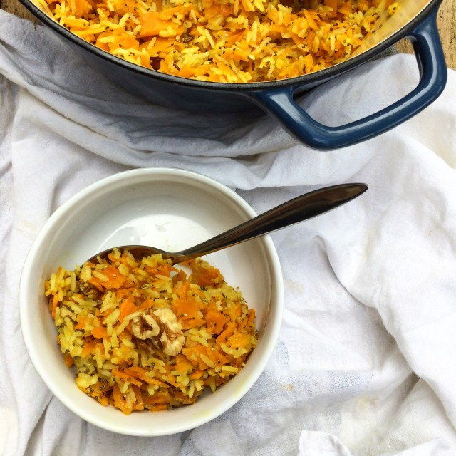 Ayurveda inspired sweet potato risotto