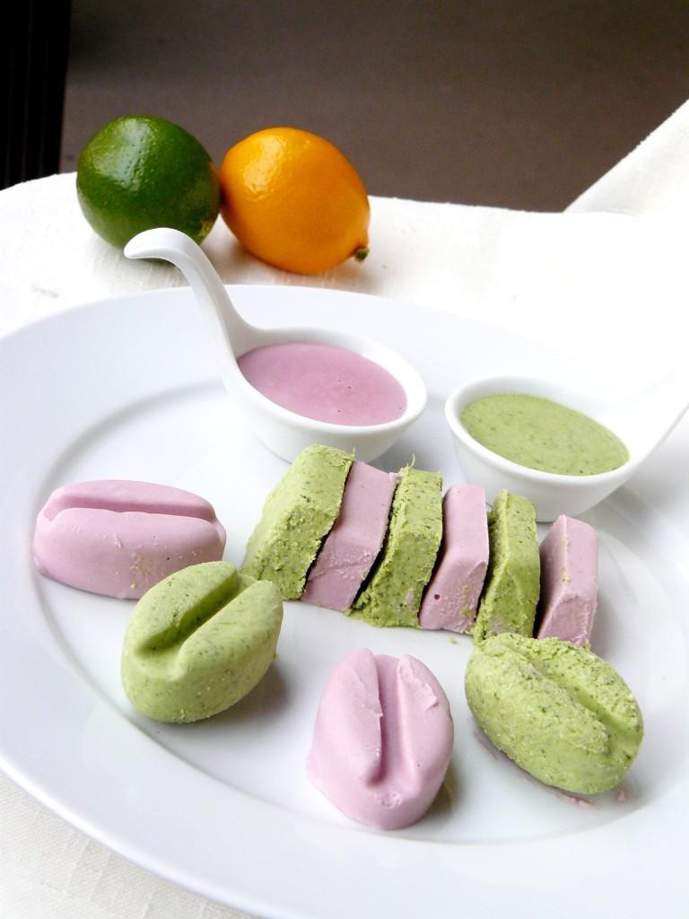 coconut cashew strawberry cilantro ice cream for Valentine's day