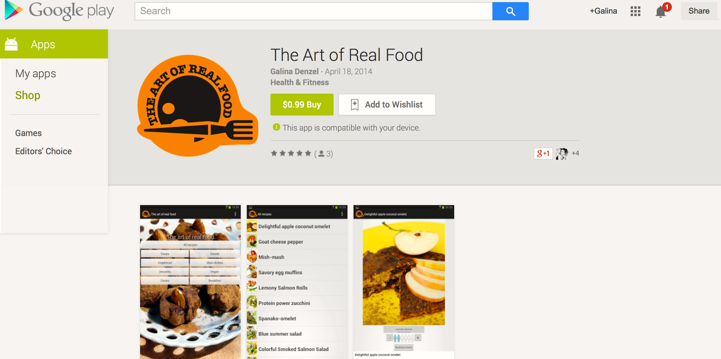 OMG the Art of Real Food app is here in English