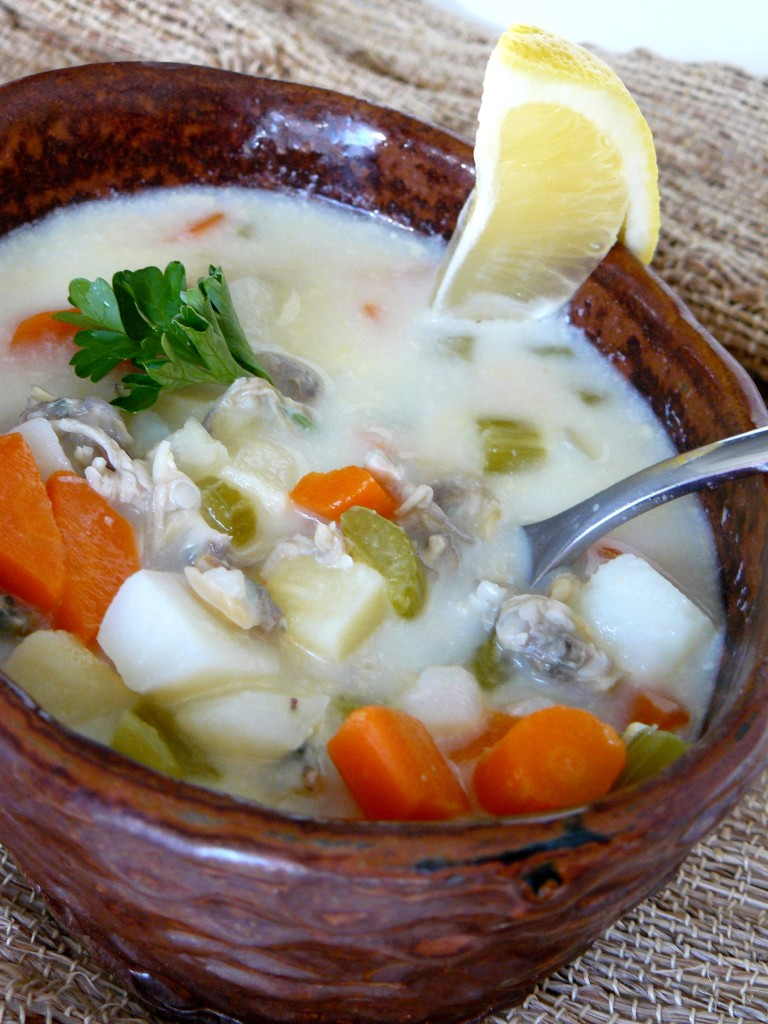 clam chowder coconut milk