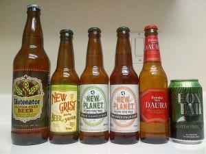 gluten free beer lineup