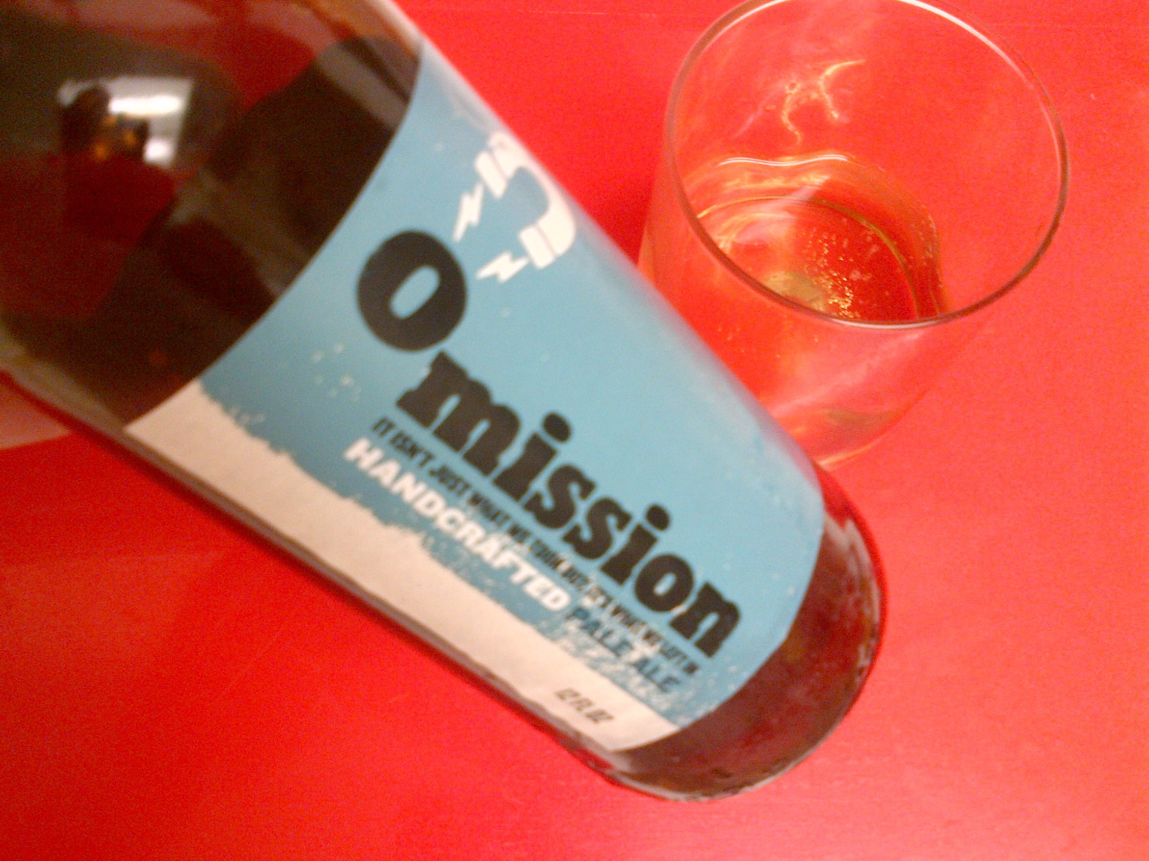 omission blue gluten free beer pale ale
