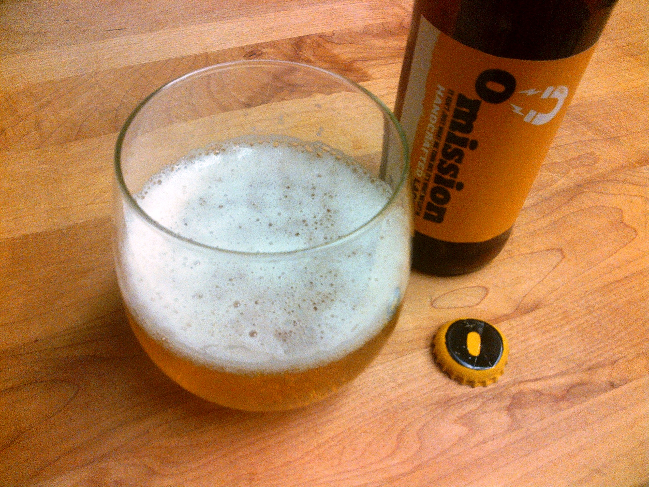omission yellow gluten free beer lager