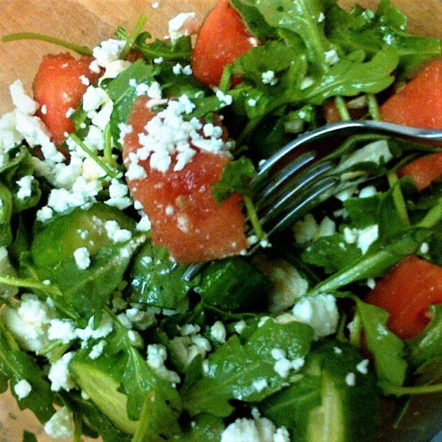 Rocket, Watermelon, & Feta Salad