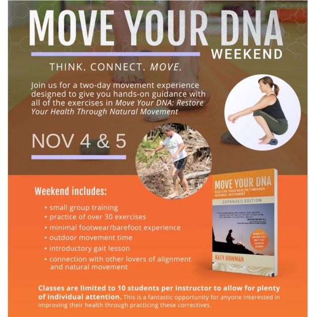 Move Your DNA October 4-5 Workshop Ventura California