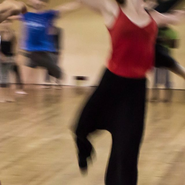 tighten your core when you dance