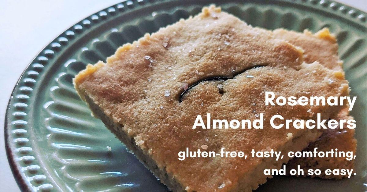 easy gluten free almond crackers