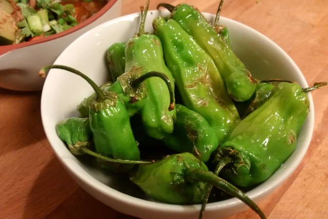 Shishito Peppers in Olive Oil and Sea Salt